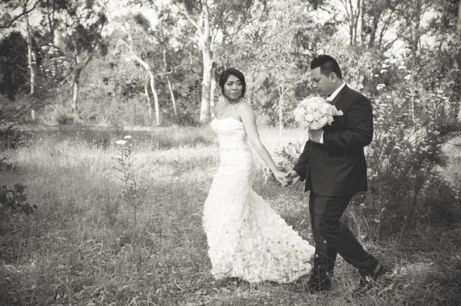 Danielle-Francisco-Black & White-Wedding Photo